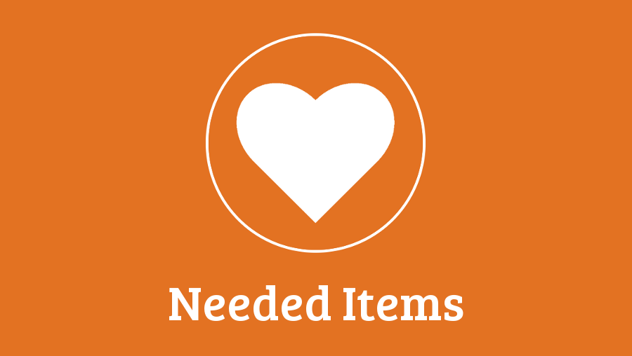 IN NEED OF THE FOLLOWING ITEMS….
